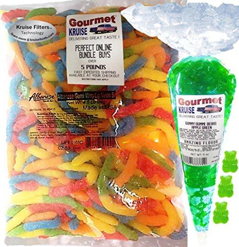 Gummi Gummy Sour Worms Albanese - Bulk Candy