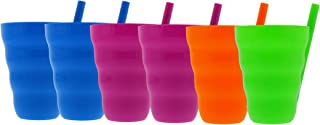 product image for Arrow 10oz Sip A Cup with Built in Straw, 6pk - Straw Cups for Toddlers, Kids Cup with Straw, Plastic Toddler Straw Cup - BPA Free, Dishwasher Safe, Stackable Kids Cup - Purple, Blue, Green, Orange