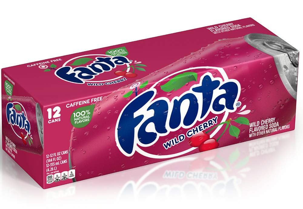 Fanta Wild Cherry Soda - 12 oz cans - 12 pack