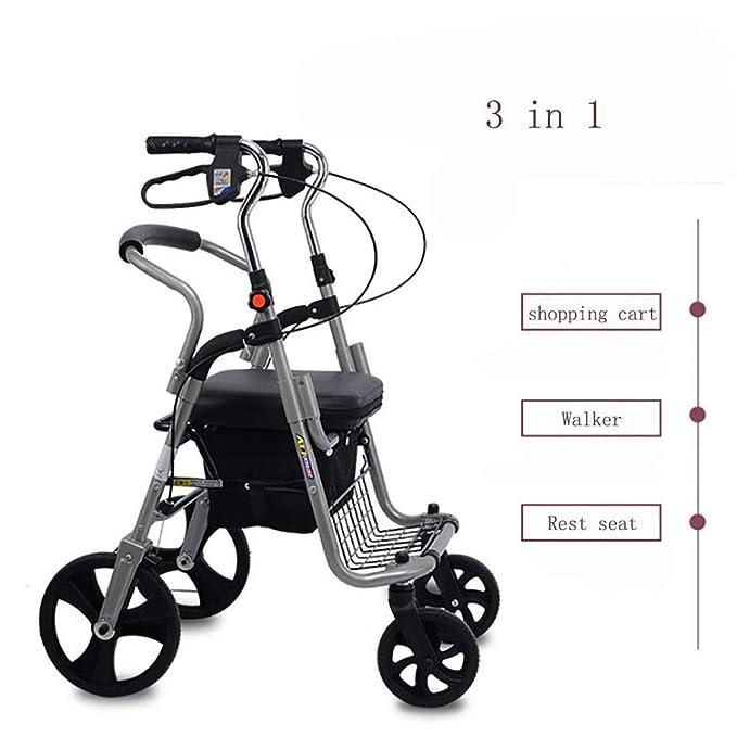 Silla de ruedas plegable de edad avanzada para Grandma ...