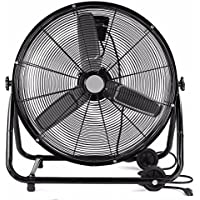 24 Inch Rolling Drum Floor Fan Shop Industrial Heavy Duty Commercial Warehouse