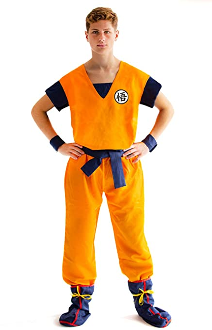CoolChange disfrace Cosplay de Son Goku de la Serie La Bola del dragón. Talla: M