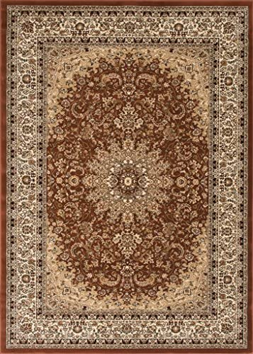 Traditional Area Rug Design Elegance 205 5 Feet 2 Inch X 7 Feet 3 Inch, Brown