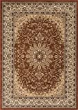 Cheap Traditional Area Rug Design Elegance 205 (5 Feet 2 Inch X 7 Feet 3 Inch, Brown)