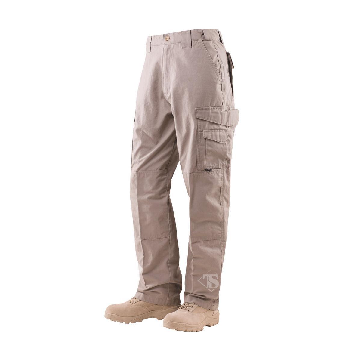Tru-Spec Men's Cotton 24-7 Pant, Khaki, 36-Inch Unhemmed