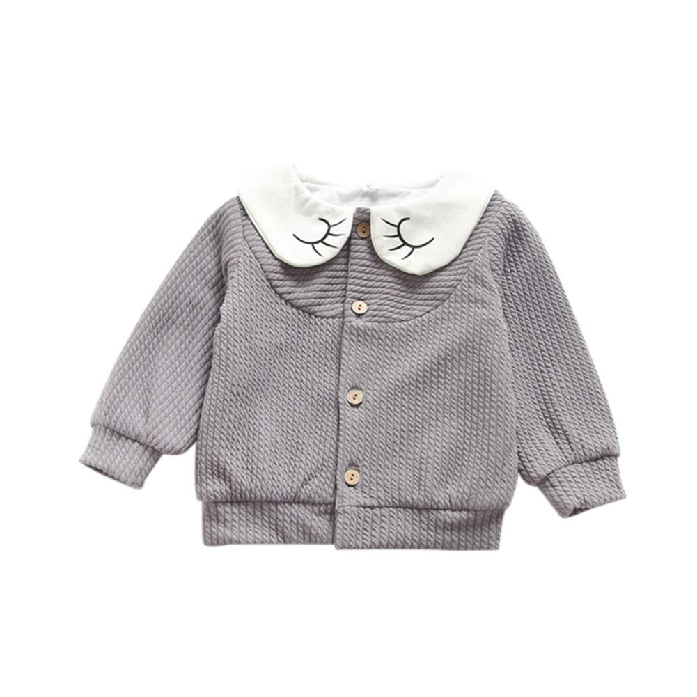 Urmagic Bébé Fille Pull Cardigans,Nouveau-né Décontractée Solide Manteau  Manche Longue Coton Tricot Chaud Automne Hiver Vêtements D extérieur 98e73b824df