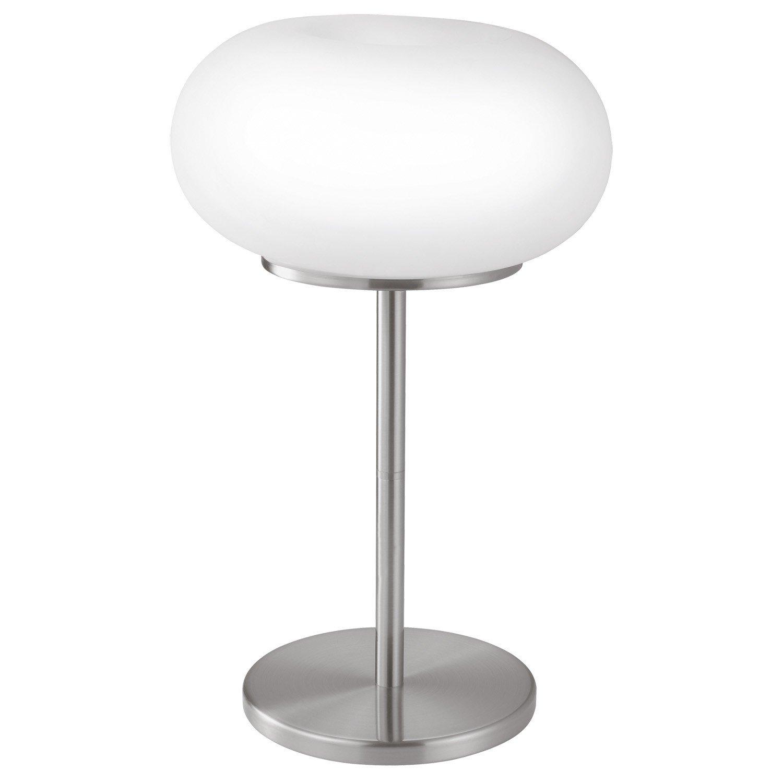 EGLO Tisch Kugelleuchte, Metall, E27, Weiß