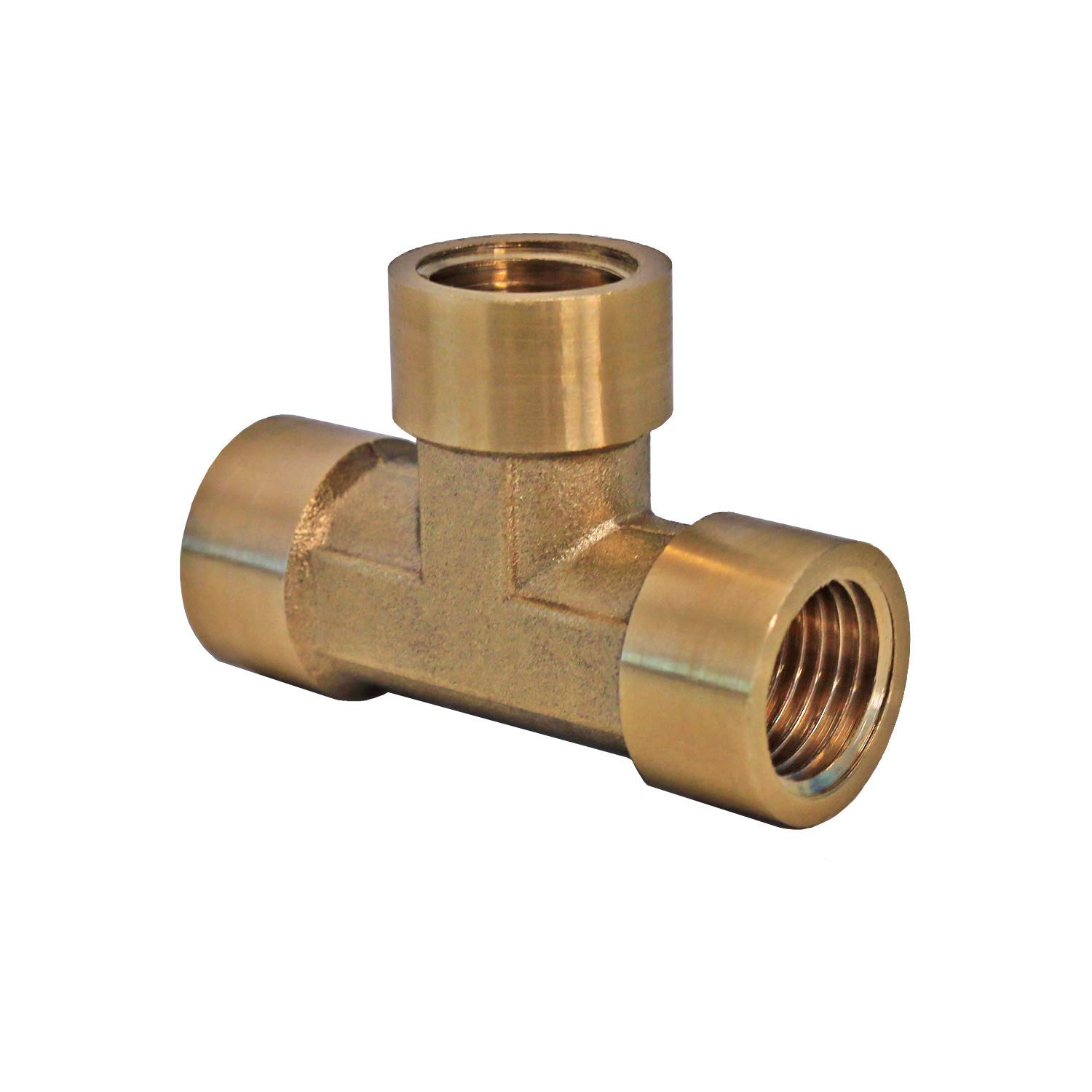 1//4 Brass Tee Fitting NPT T Pipe Fitting 1//4 1//4in x 1//4in x 1//4in Quarter Inch Tee 1//4 NPT Female Pipe T Connector 1//4 Brass T-Valve 1//4 Brass Tee 1//4 NPT Female