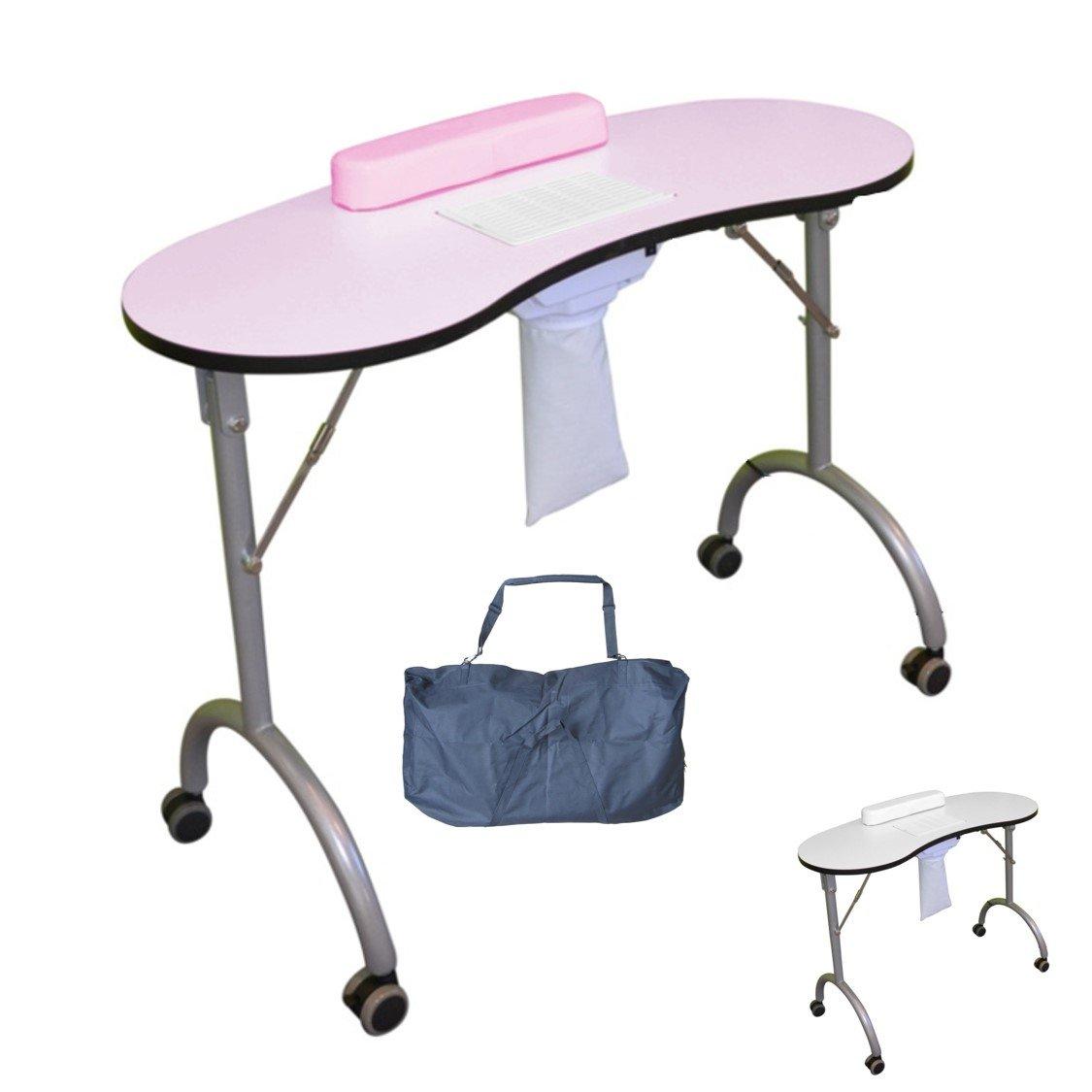 Polironeshop table de travail pliable pour manucure - reconstruction esthétique ongulaire et nail art avec aspirateur