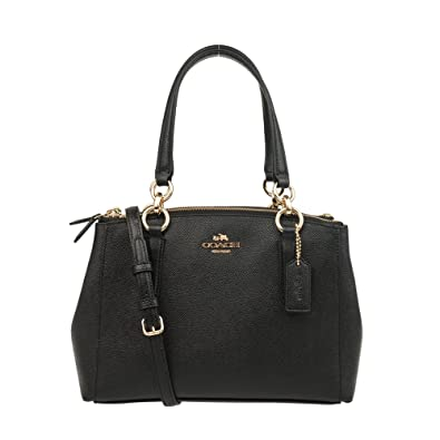 645df83e2bf COACH Crossgrain Leather Mini Christie Carryall Crossbody Handbag (Black):  Handbags: Amazon.com