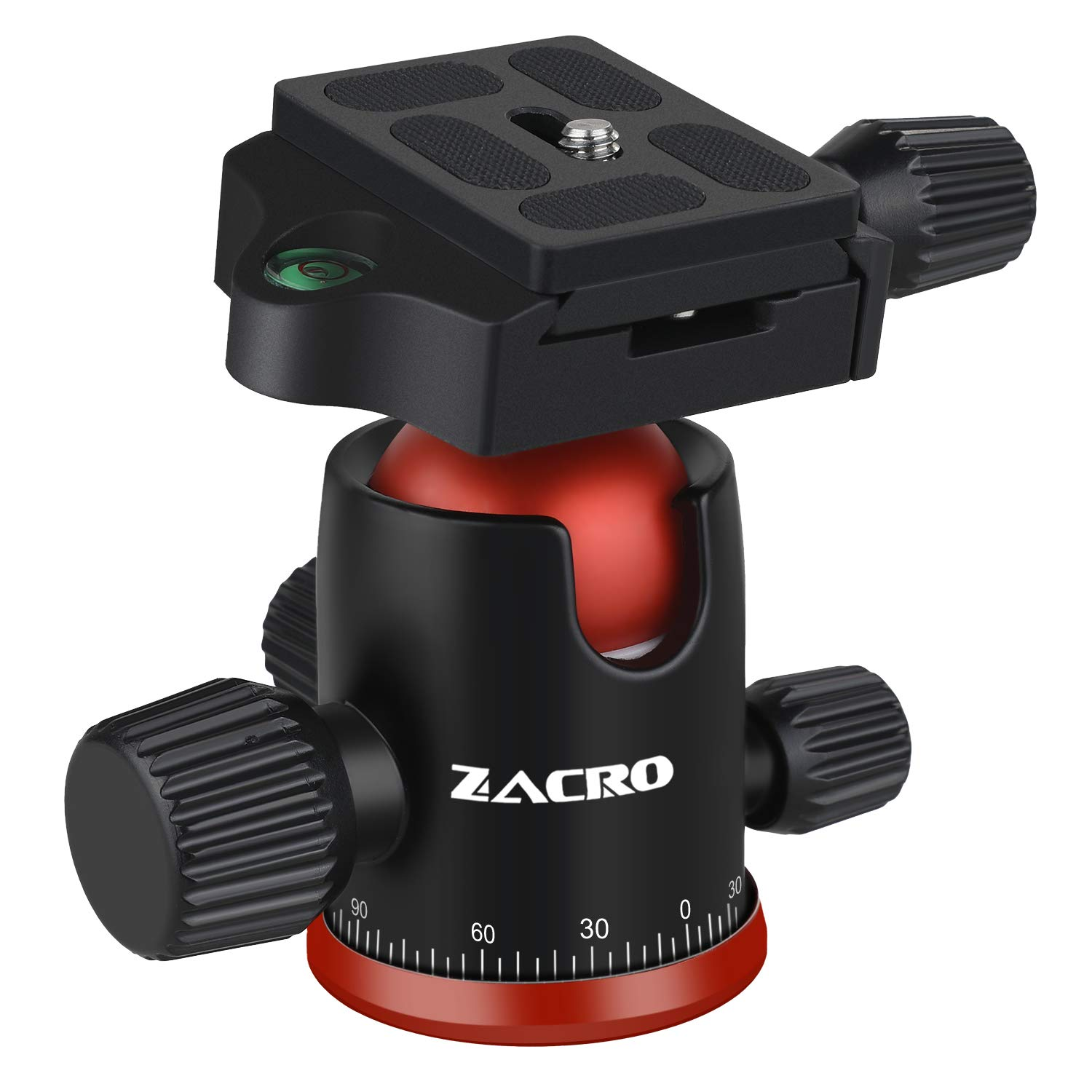 Zacro Camera Panoramic Ball Head - 360 Degree Rotating Tripod Head for Tripod/Monopod/Slider/DSLR Camera/Camcorder, Max Loading 10kg, Suitable for Cameras with 1/4in Screw by Zacro