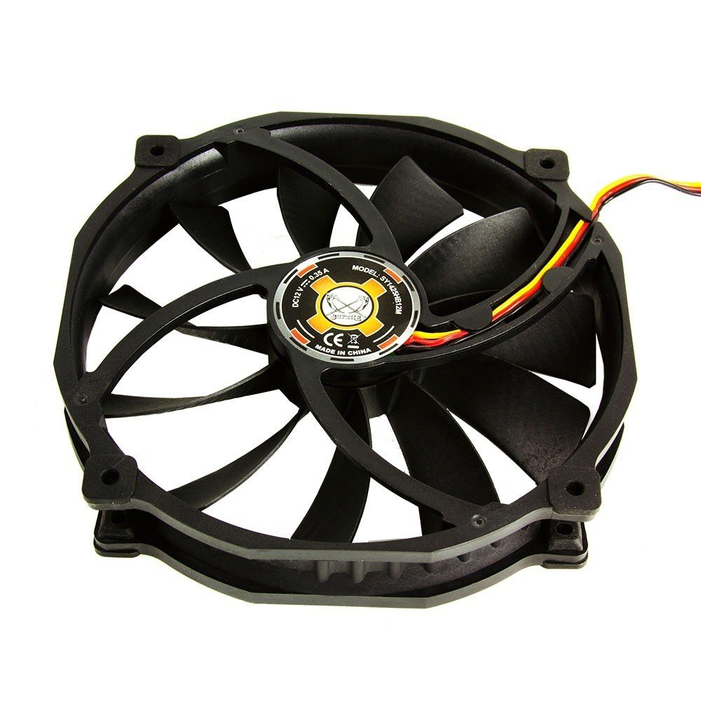 Quiet Case//CPU Cooler Fan 4-Pin 500-1300 RPM SCYTHE Glide Stream 140mm Fan