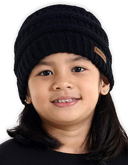 77ffc3d92c6 Amazon.com  Brook + Bay Kids Cable Knit Beanie - Fits Girls