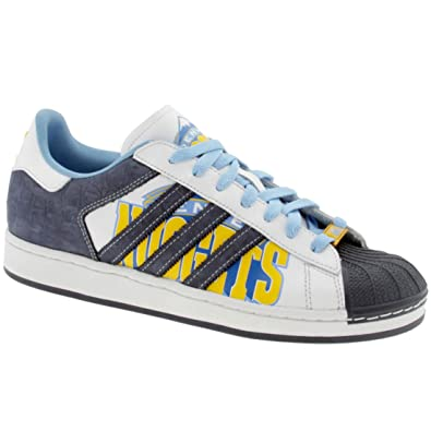 nice cheap sneakers new images of adidas Superstar 1 Mens SZ 13 Blue Denver Nuggets Edition Sneakers Shoes