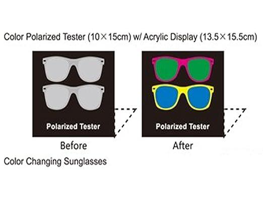 "2fd7e71f051a Polarized Tester Test Your Sunglasses Polarized Lens 5.5""X6.5"" ..."