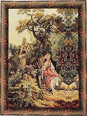 Romance By the Fountain Tapestry Wall Hanging
