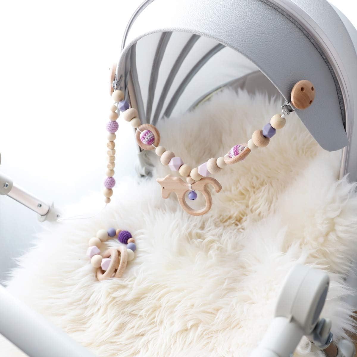 Mamimami Home 3PC movil cuna cochecito juguete con campana de timbre juguetes montessori sonajeros bebe mordedor bebes pinza chupete juguetes madera