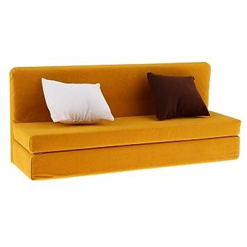 Blesiya 1/6 Mueble de Sofá Larga con Cojines de Espuma para ...