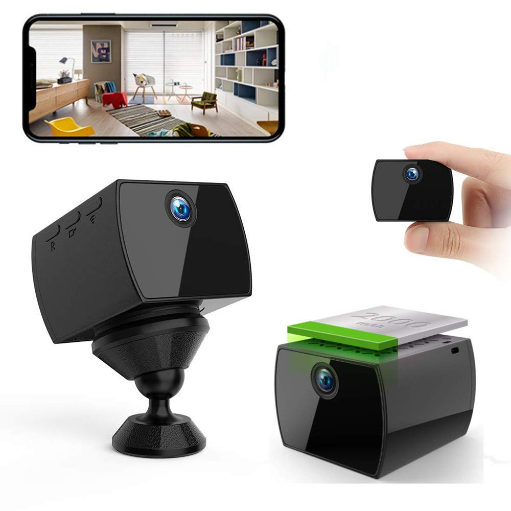 Hidden Camera Spy Mini Camera - HD WiFi Night Vision Wireless Real Time Phone View Live Video Recorder Motion Detection Monitor Security Nanny Cam by WNAT