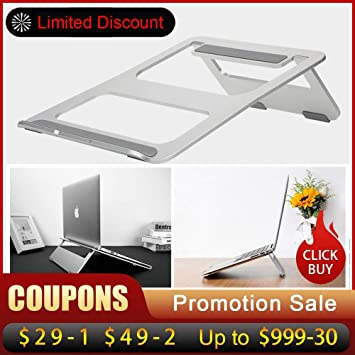 Amazon.com : Best Quality Ergonomic Design Aluminum Alloy Laptop Stand Desk Dock Holder Bracket Cooler Cooling pad Foldable for MacBook pro/air/ipad/Phone ...