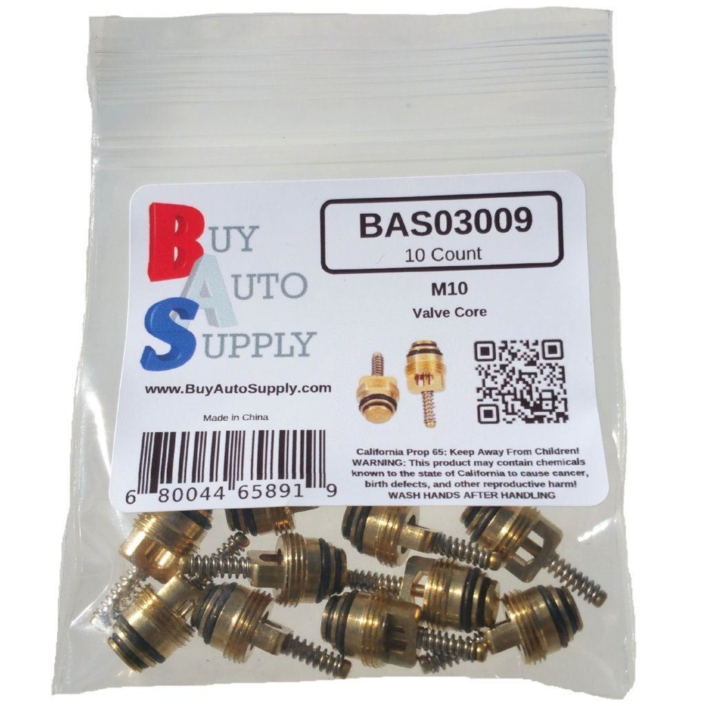 GM 10245619 Buy Auto Supply # BAS03009 59356 50 Count Chrysler 4882331 M10 Brass A//C Schrader Valve Core Aftermarket Replacement For MT0065 Ford 4L3Z19D701A /& More Vehicles