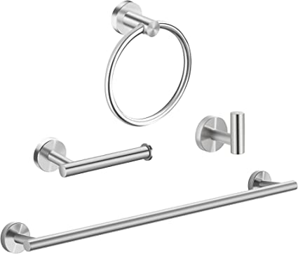 Maxforte Hand Towel Holder for Bathroom Towel Bar Set Heavy Duty Towel Racks Wall Mount Bathroom Hardware Set Stainless Steel Matte Black