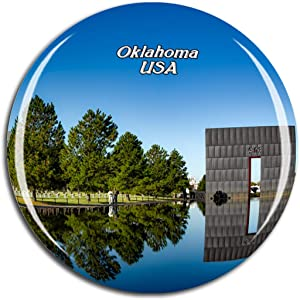 Weekino USA America Oklahoma City National Memorial & Museum Fridge Magnet 3D Crystal Glass Tourist City Travel Souvenir Collection Gift Strong Refrigerator Sticker