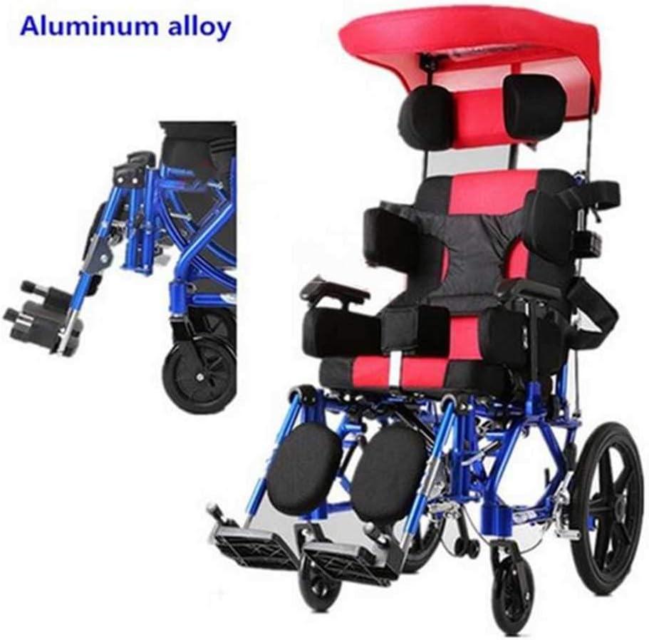 MEICHEN Silla de Ruedas Manual portátil Activa de los niños de la Altura Ajustable de Aluminio del Precio para los niños,Seatwith46cm