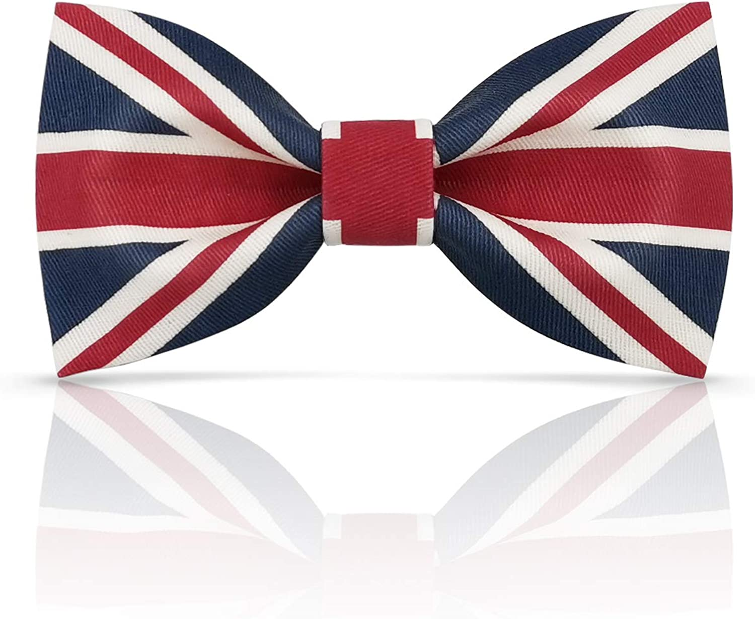 Lanzonia Boys Bowtie Fashion Union Jack Flag Patterned Bow Tie for Kids