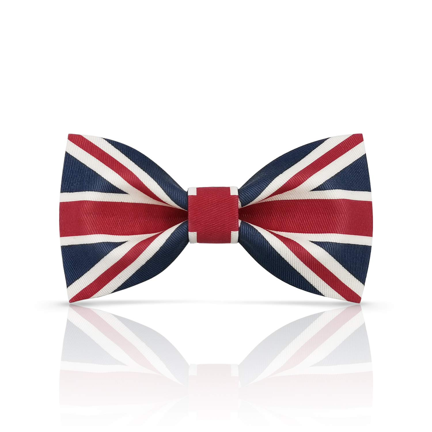 Lanzonia Boy's Bowtie Fashion Union Jack Flag Patterned Bow Tie for Kids