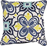 Surya Kate Spain KS014-2020D Down Fill Pillow, 20 by 20-Inch, Cobalt