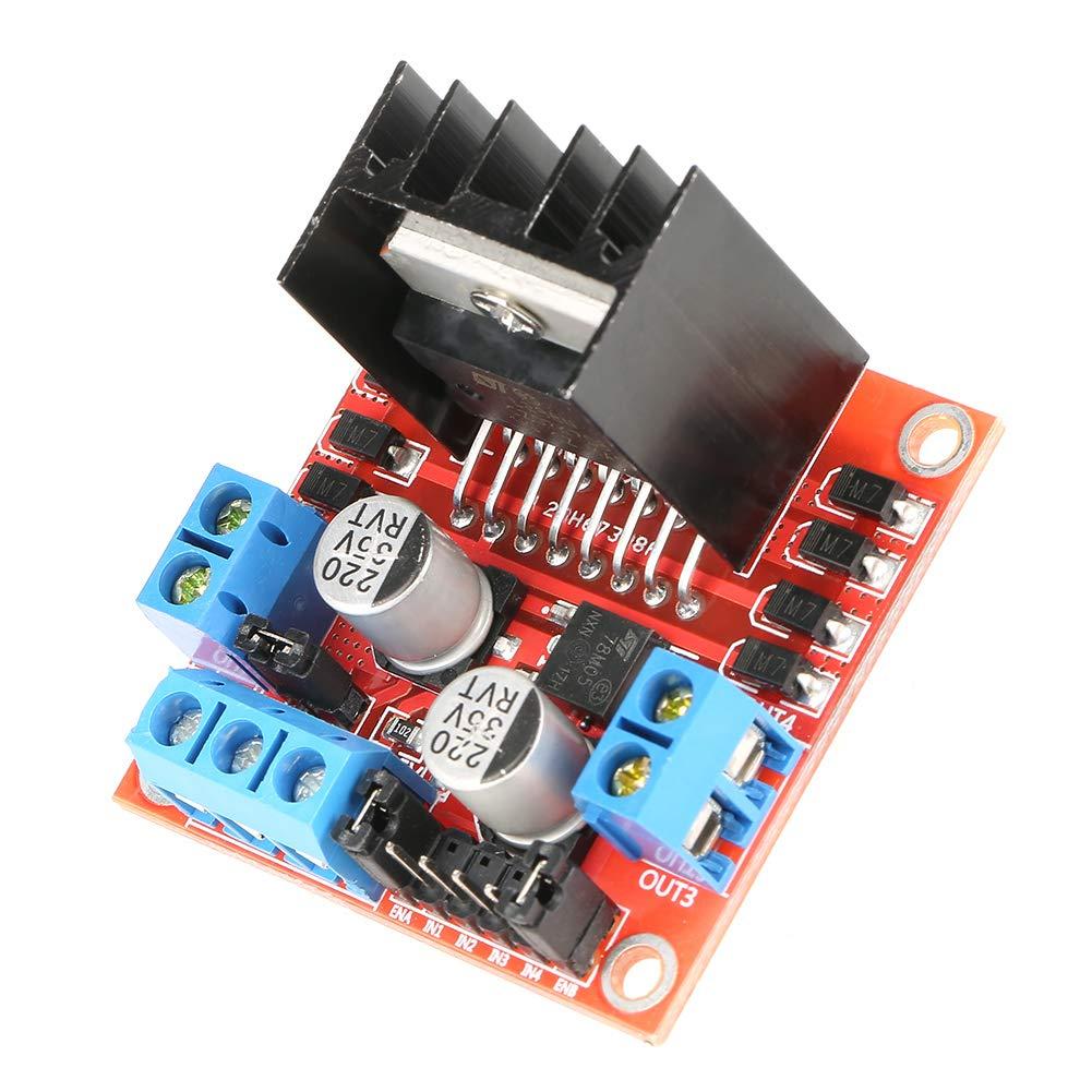 Neuftech L298N Dual H-Bridge Dc M/ódulo Dirve del controlador paso a paso para Arduino Raspberry Pi Bridge Controlador del motor paso a paso