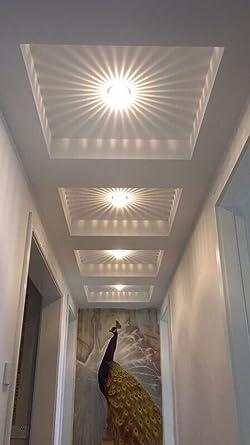 Deckenleuchte Flur Schlafzimmer Balkon Wohnzimmer Badezimmer Treppen  Korridor Lampe 3W Wandleuchte Innen LED (warmweiß)