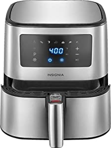 Insignia - 5-qt. Digital Air Fryer - Stainless Steel