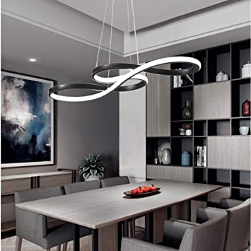 Amazon.com: Hlidpu Modern LED Pendant Light Circular White ...