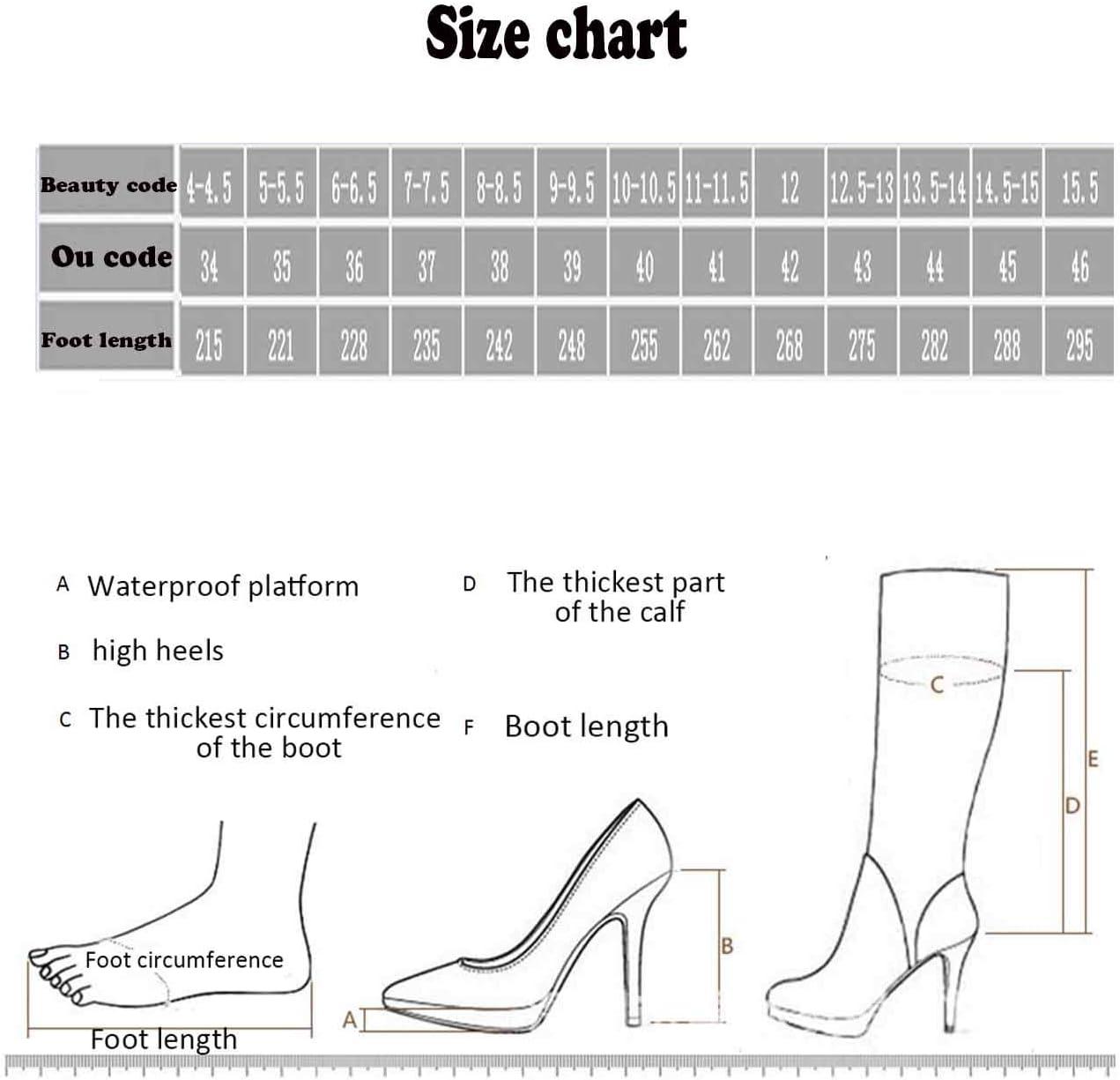 XER Damenstiefel wies Mode bequemen seitlichen Rei/ßverschluss High Heel Stiefel Gr/ö/ße 34-47 f/ür Fancy Dress Party,34