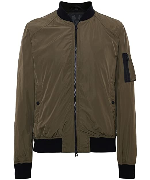 3322f4630 Belstaff Men's Water Repellent Mallison Bomber Jacket UK 44 Dark ...
