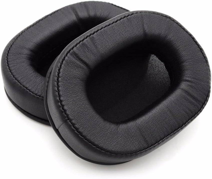 YunYiYi 1 par de Almohadillas de Espuma Negra de Repuesto para Auriculares JBL E55BT E55 BT Bluetooth inalámbricos Auriculares
