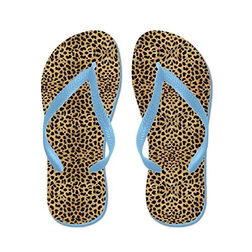 Cafepress Cheetah Print - Flip Flops, Grappige String Sandalen, Strand Sandalen Caribbean Blue