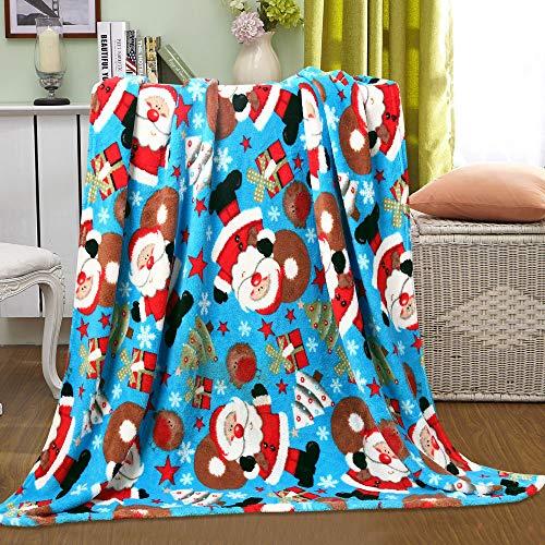 (Noble House Christmas Santa Fleece Throw Plush Blanket 50