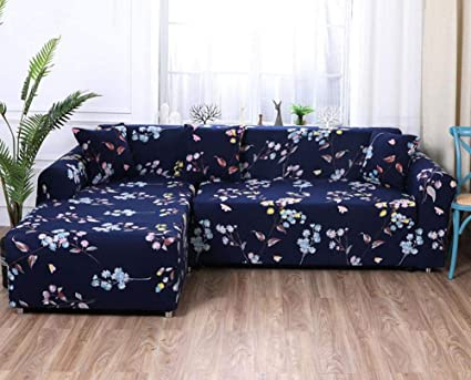 WOMACO Sectional Sofa Slipcovers Printed L Shape Couch Covers 2 pcs Stretch  Sofa Cover Slip Covers for 2-Piece Sectional Couch - Pattern #19, XL ...