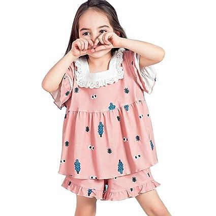 Pijamas Chicas Pijamas Pijamas de Verano para Niños Pijamas de Algodón de Manga Corta para Bebés
