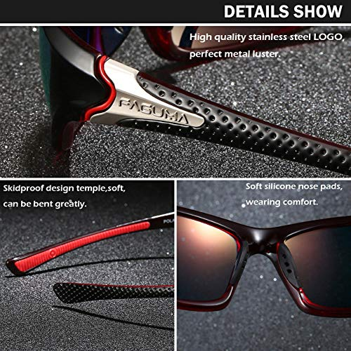 Sports Polarized Sunglasses For Men Cycling Driving Fishing 100% UV Protection 4