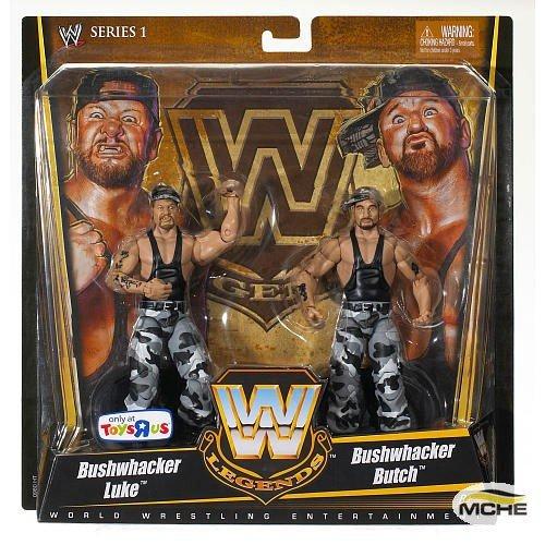 Image of Action Figures & Toy Figurines Mattel WWE Wrestling Exclusive True Legends Elite Action Figure 2Pack Luke Butch Bushwhackers