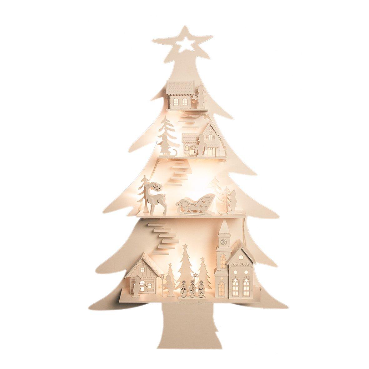 The Christmas Workshop Alberello di natale in legno Decorazioni Natalizie Image 1