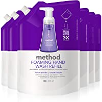 Method Foaming Hand Wash Refill, French Lavender, 28 Ounces (Pack of 6)