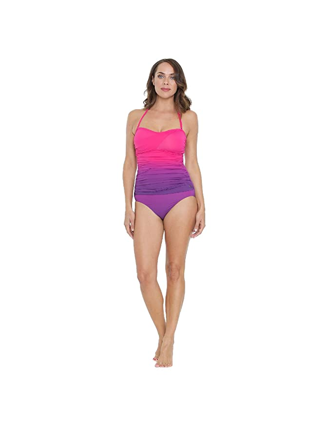 b7f21e2aacbc4 Seaspray SY006443A Women's Pink Solid Colour Costume One Piece Swimsuit:  Seaspray: Amazon.co.uk: Clothing