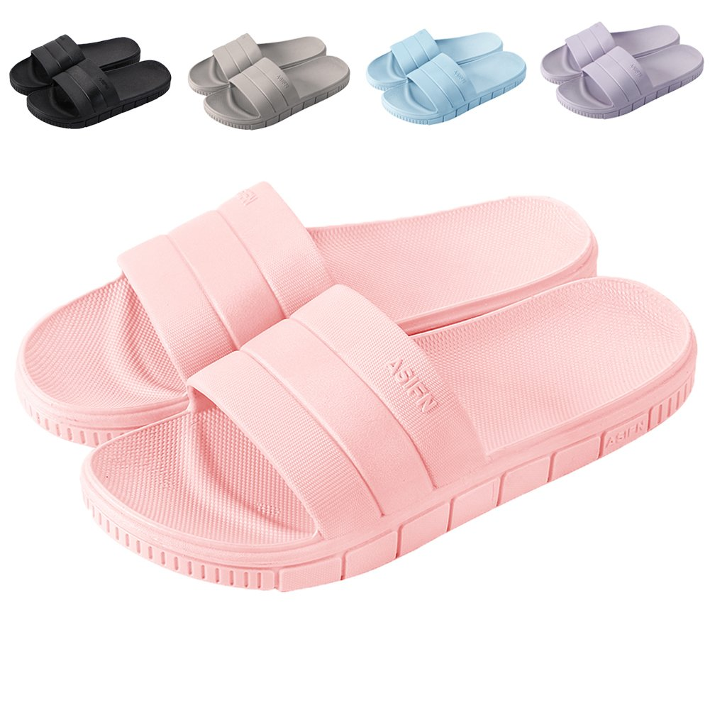 17KM Bath Slipper Women Men Non-Slip Open Toe Shower Sandals Indoor Outdoor Soft Flat Slide Sandals Slippers