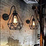 JINGUO Lighting Industrial Vintage 1-Light Wall