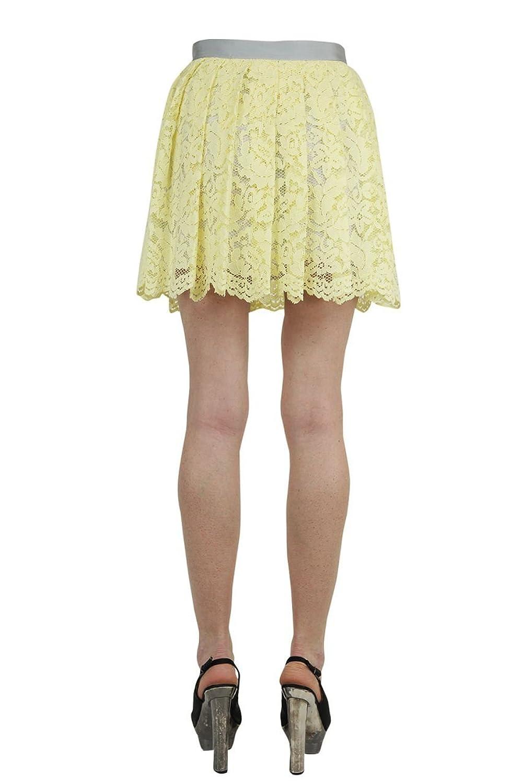 Liu Jo Mini Skirt MINIGONNA PIZZO MACR, Color: Yellow